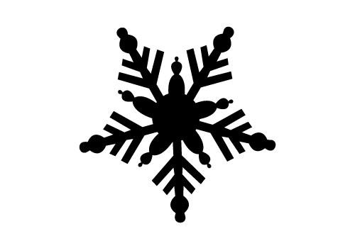 Free Snowflake Vector Silhouette.