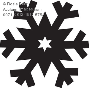 Royalty Free Clipart Illustration of a Snowflake Silhouette.