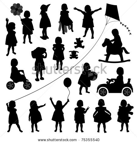 toddler child children baby girl kid silhouette playing happy.