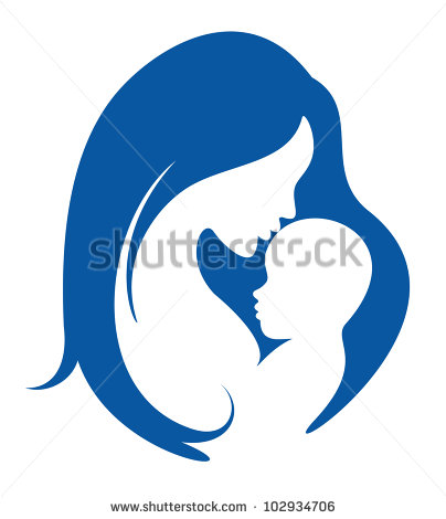 Baby Silhouette Stock Images, Royalty.