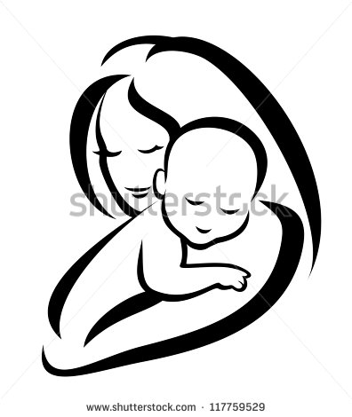 Mother And Child Silhouette Stock Images, Royalty.