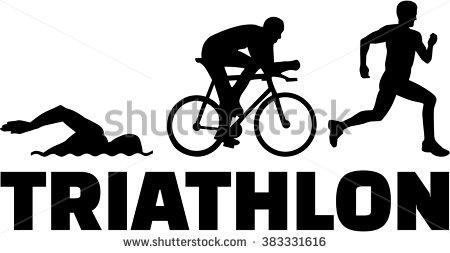 Triathlon Vector Stock Photos, Royalty.