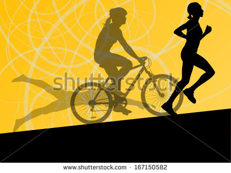 Biker Silhouette Stock Images, Royalty.