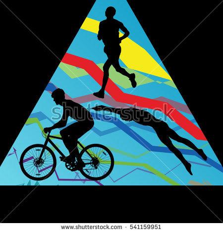 Female Triathlete Stock Images, Royalty.