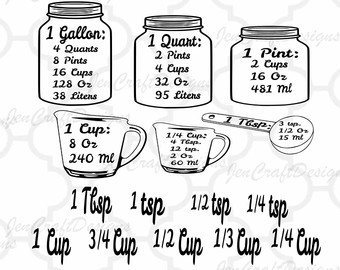 silhouette clipart vintage measuring cup #19