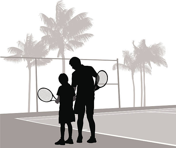 Tennis Coach Vector Silhouette Clip Art, Vector Images.