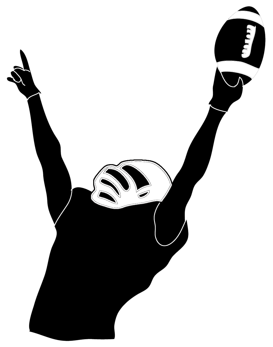 Football Player Silhouette T.