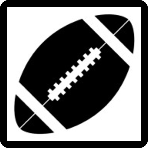 Silhouette Ball American Football Clipart.