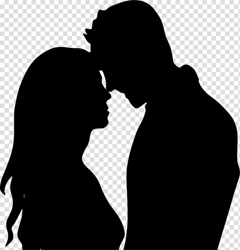 Couple silhouette, Silhouette couple Romance , break up.