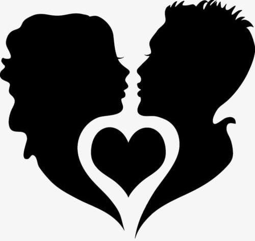 Couple Silhouette PNG, Clipart, Black, Black Silhouette.