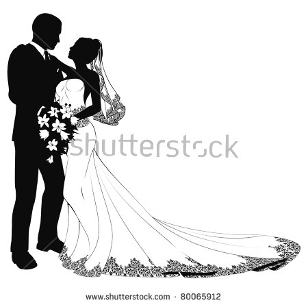 Wedding Silhouette Stock Images, Royalty.