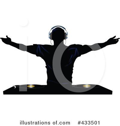 Silhouette Dj Clipart#2092835.