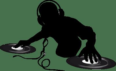 DJ Clipart Silhouette transparent PNG.