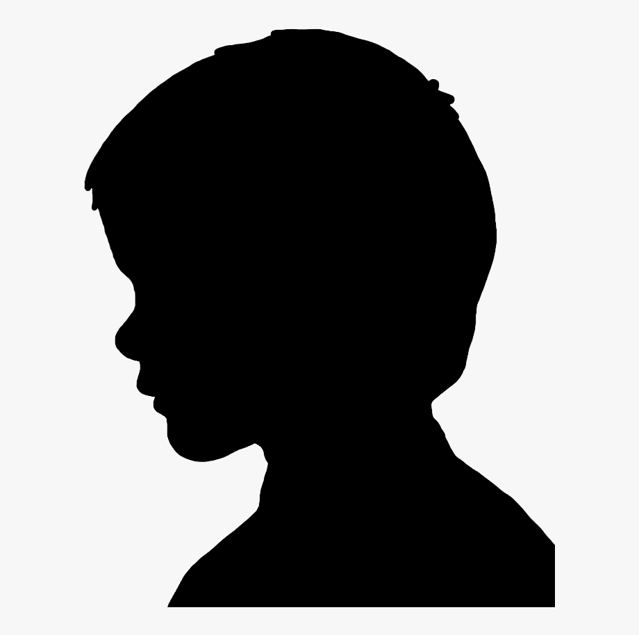 Silhouettes Clipart Boy Face.