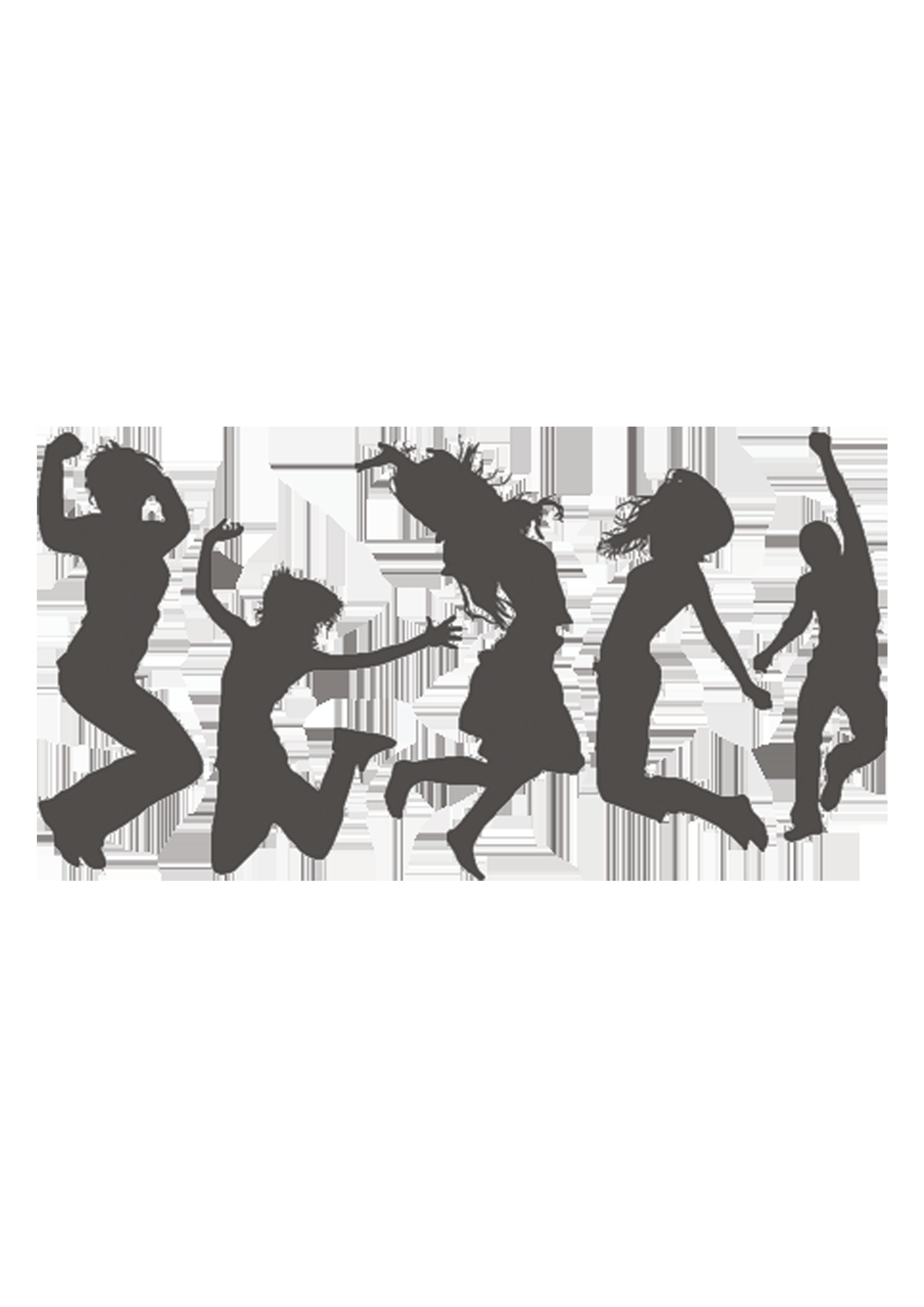 Silhouette Jumping Dance Clip art.