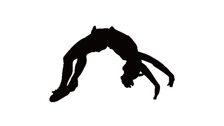 Cheerleading Silhouette Tumbling Gymnastics Clip art.