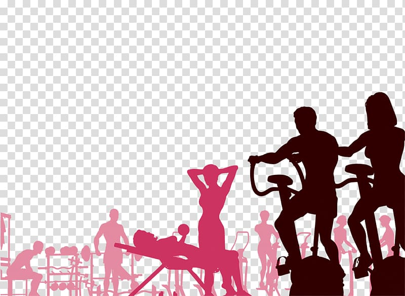 Silhouette of person, Fitness centre Free content , Fitness.