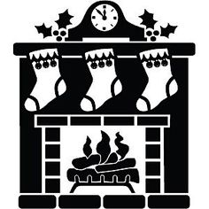 silhouette fireplace clipart #18