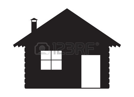 silhouette fireplace clipart #7