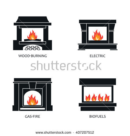 silhouette fireplace clipart #5