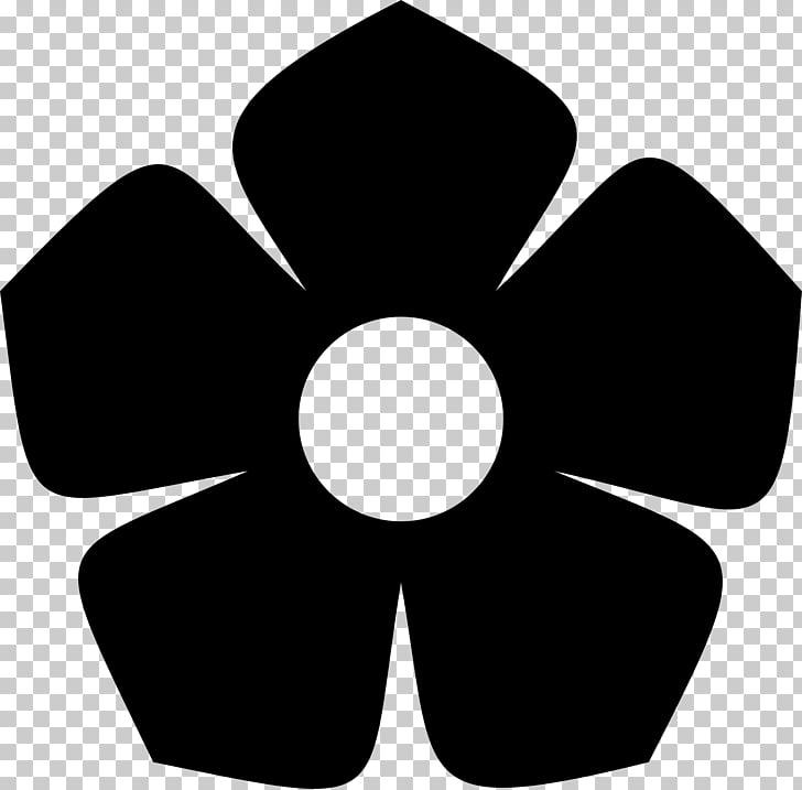 Silhouette Flower , flower black PNG clipart.