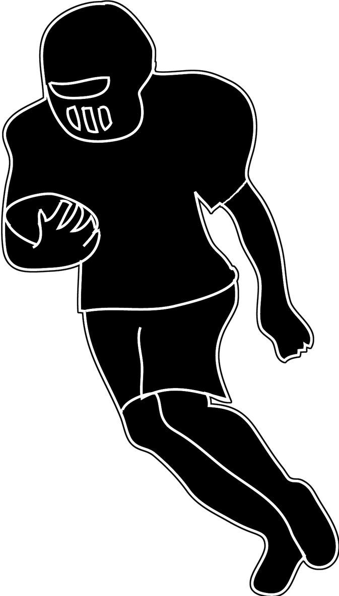 silhouette football clipart clipground