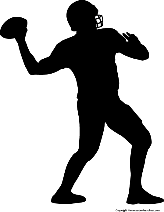 Football Silhouette Clipart#2177989.