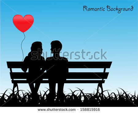Couple Sitting Silhouette Stock Images, Royalty.
