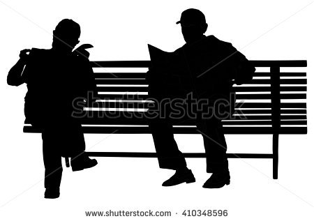 Bench Silhouette Stock Images, Royalty.
