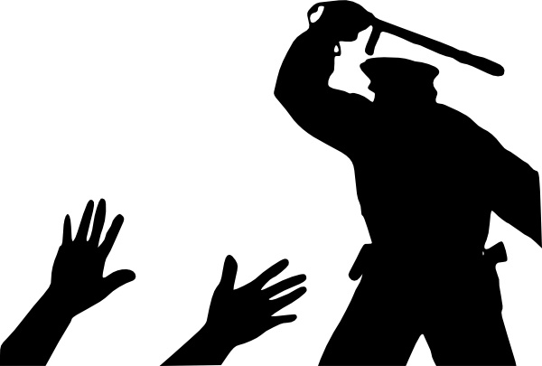 Police Brutality clip art Free vector in Open office drawing svg.