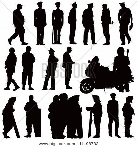 Police Silhouettes Collection.