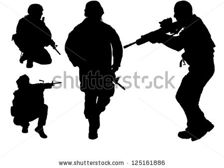 Security officer vector silhouette free vector download (90,157.