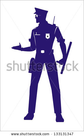 Police Silhouette Stock Images, Royalty.