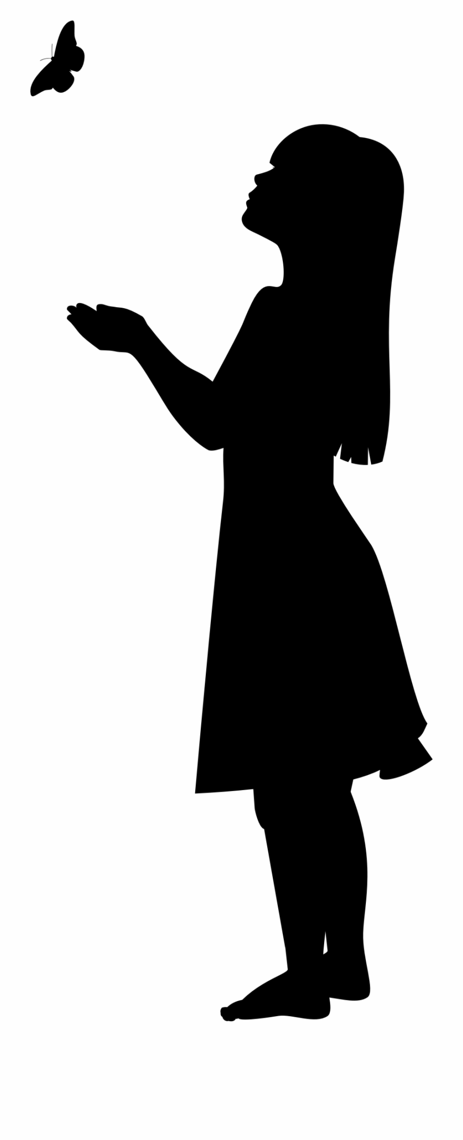 Clipart Silhouette Of Little Girl Clipart.