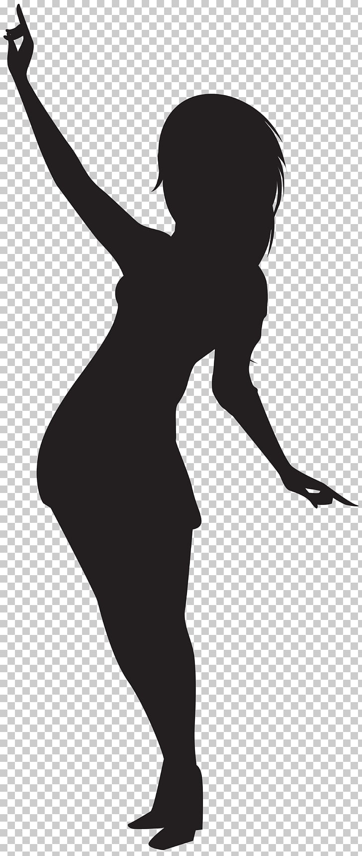 Silhouette Girl Scalable Graphics, Dancing Girl Silhouette.