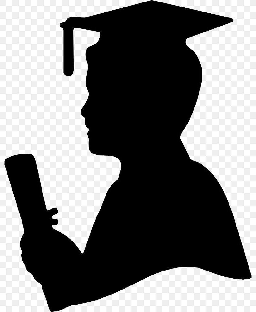Graduation Ceremony Graduate University Silhouette Image.