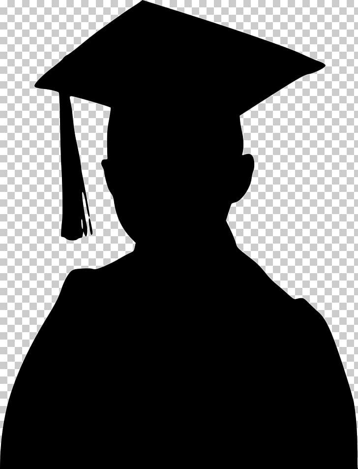 Graduation ceremony Silhouette , graduation PNG clipart.