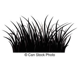 Clip Art Vector of Grass silhouette.