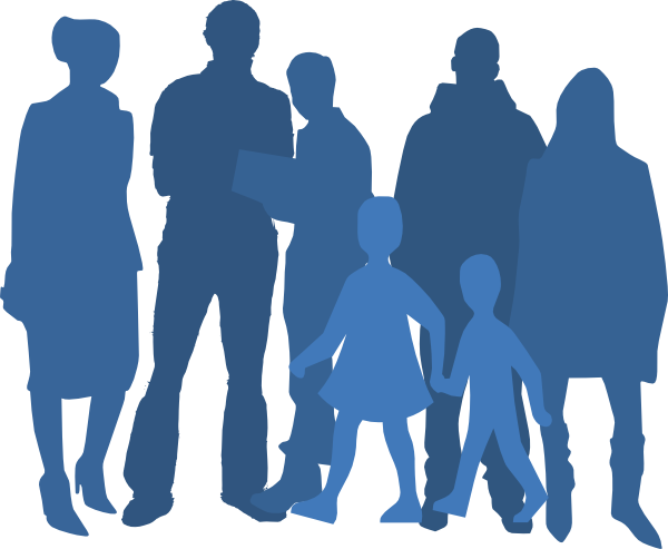 Group Silhouette Clip Art at Clker.com.