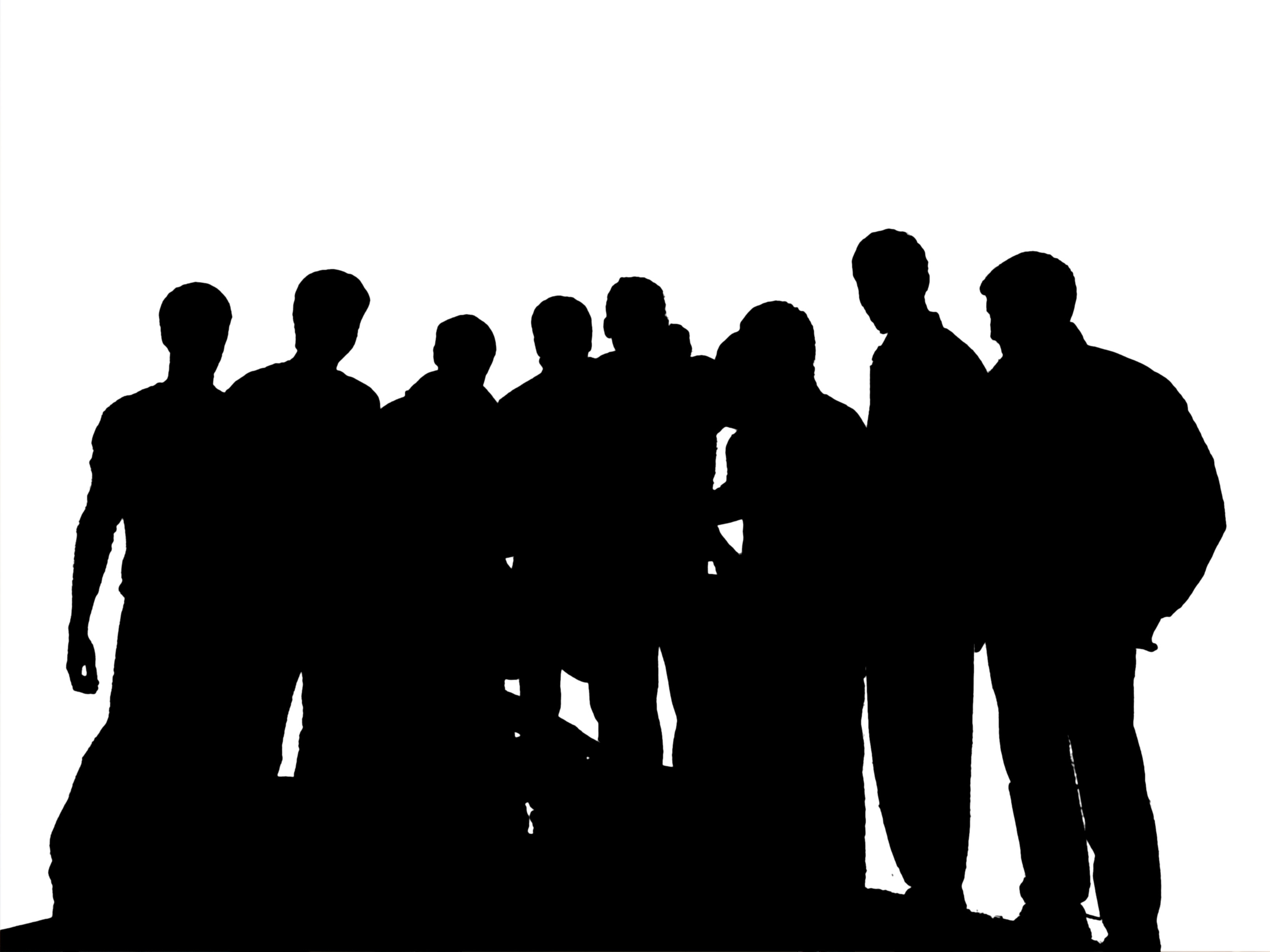 Silhouette People Group Clipart#2154563.