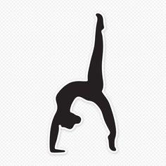 Girl Gymnastics Clipart Silhouette.