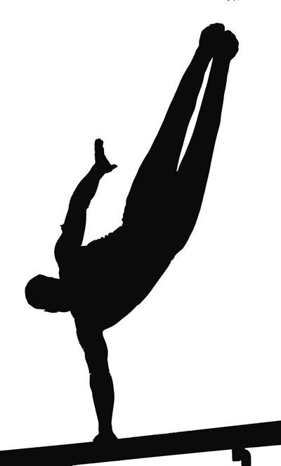 Gymnast Silhouette Clip Art & Gymnast Silhouette Clip Art Clip Art.