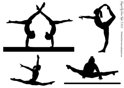 Gymnastics Clipart Silhouette.