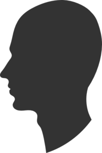 Head Profile Silhouette Male Clip Art at Clker.com.