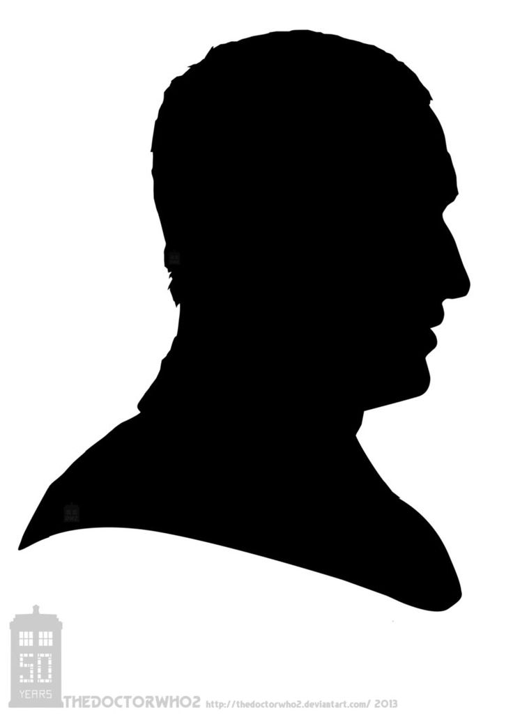 silhouette heads clipart #11