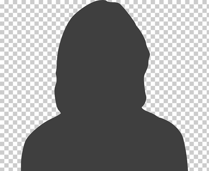 Silhouette Female Woman , Headshot Silhouette PNG clipart.