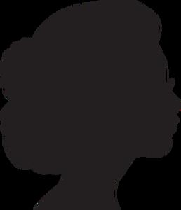12194 female head silhouette clip art free.