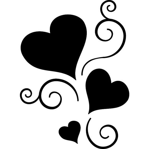 Silhouette Hearts at GetDrawings.com.