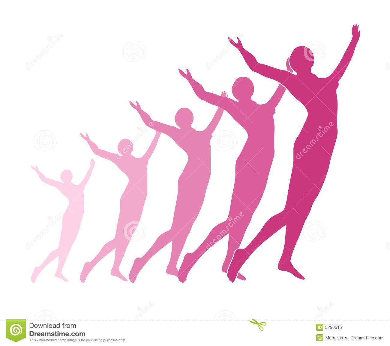 Celebration Or Fitness Silhouette Royalty Free Stock Photo.