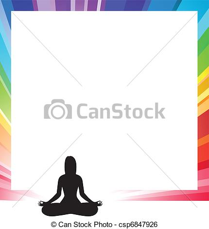 Clip Art Vector of announcement form with silhouette illustration.